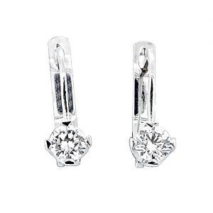 Χρυσά σκουλαρίκια- Σκουλαρίκια με διαμάντι - milliondiamonds.gr dabf853123a